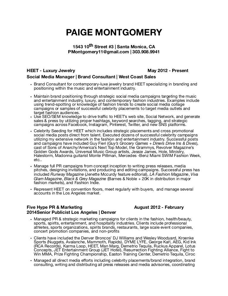 professional public relations resume samples templates. public ...