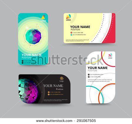 Business Card Template Name Card Design Stock Vector 291067487 ...