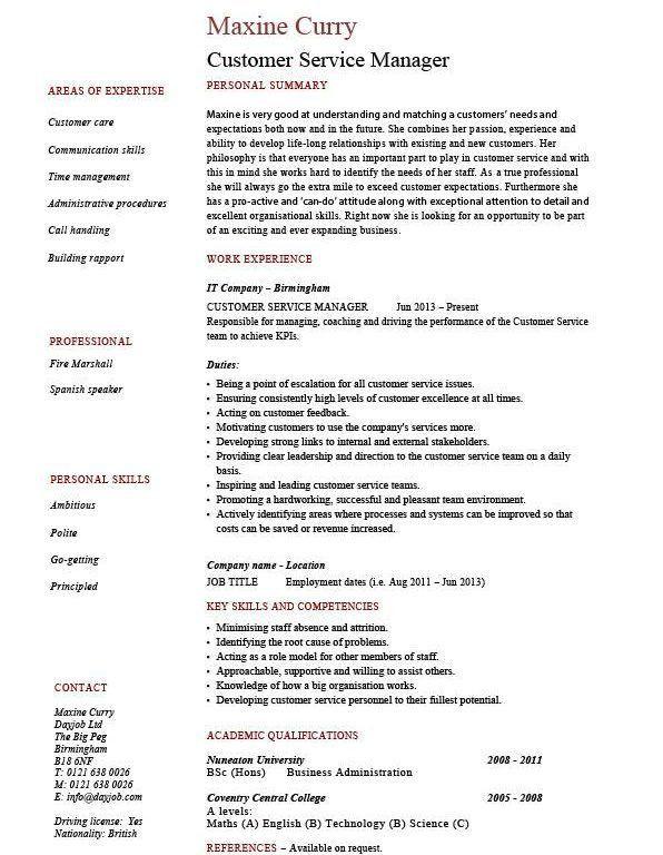 Homey Design Customer Service Manager Resume 2 Customer Service ...
