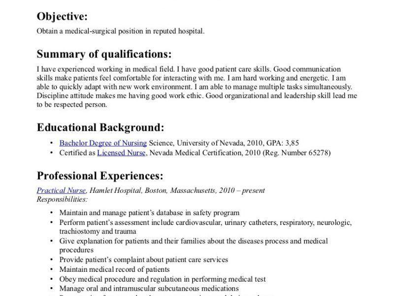 Interesting Graduate Nurse Resume 8 Sample Nurse Resumes Nicu ...