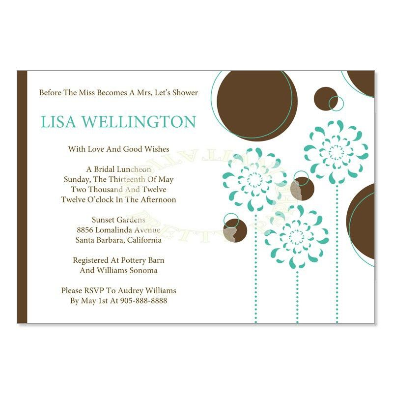 Bridal Shower Invitations: Free Wedding Shower Invitation ...