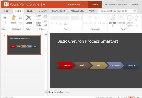 SmartArt Process Flow Diagram Template For PowerPoint Online