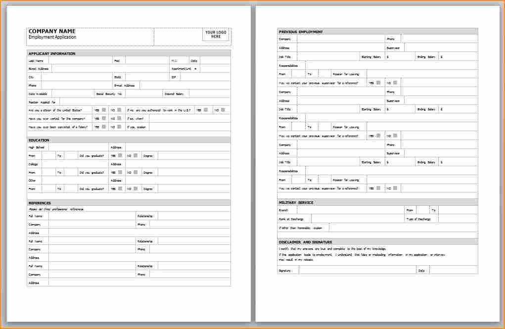 Application Form Template Free [Nfgaccountability.com ]