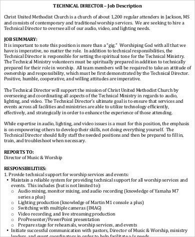Technical Director Job Description. Technical-Director-Performance ...