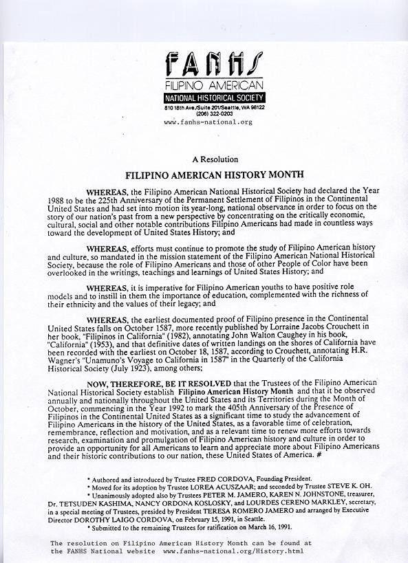 Americans of Filipino Descent - FAQs