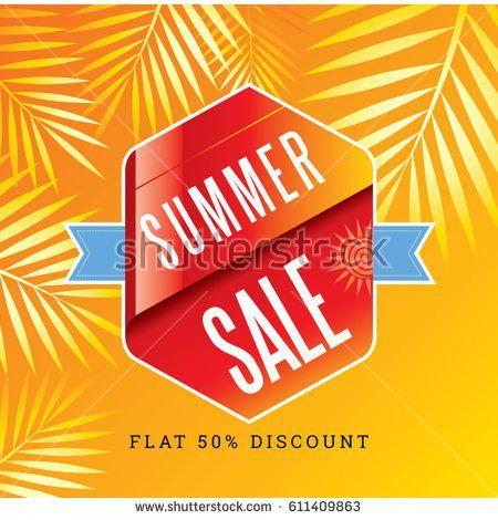 Summer Sale Banner Design Template Promotion Stock Vector ...