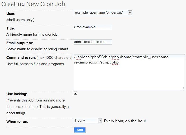 How do I create a cron job? – DreamHost