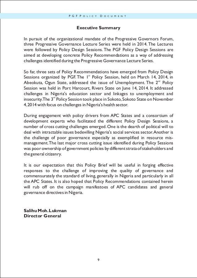 PGFconsolidated policy brief