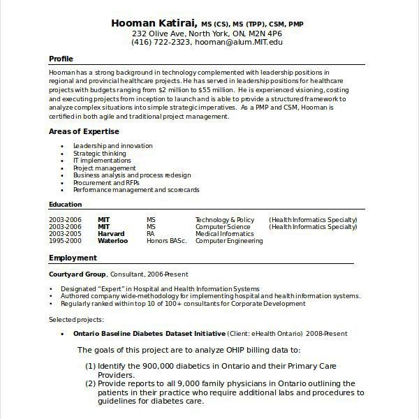 Projects Idea Of Computer Science Resume Sample 16 Computer ...