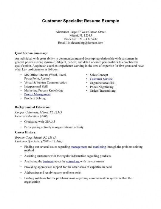 The Most Awesome Resume Professional Summary Examples Customer ...