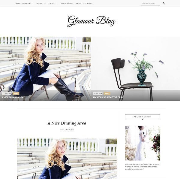 Glamour Fashion Blogger Template » abTemplates.com