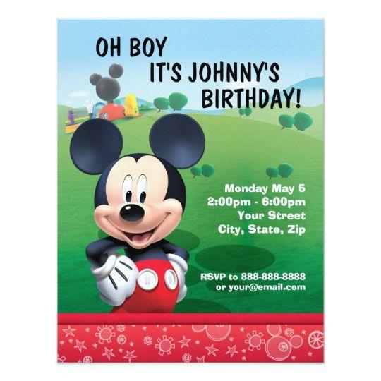 Mickey Mouse Birthday Invitation | Zazzle.com