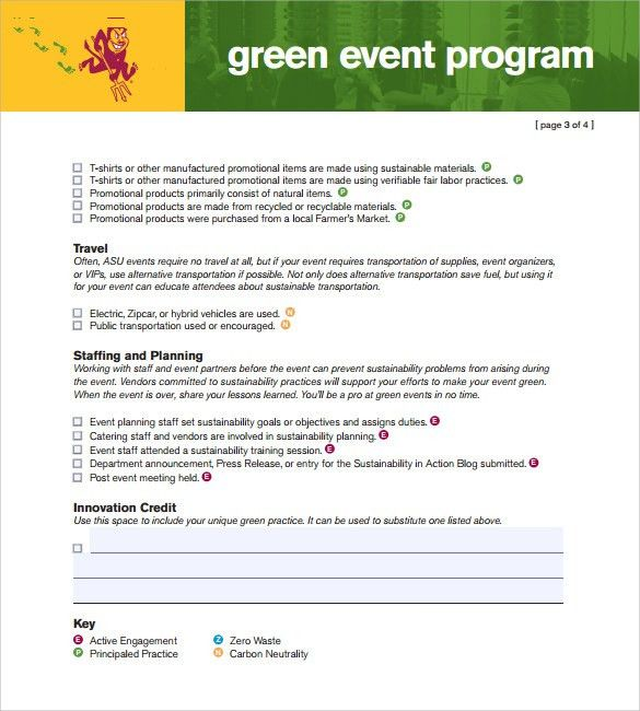 Great Sample Event Program Template   38+ Free Documents In PDF