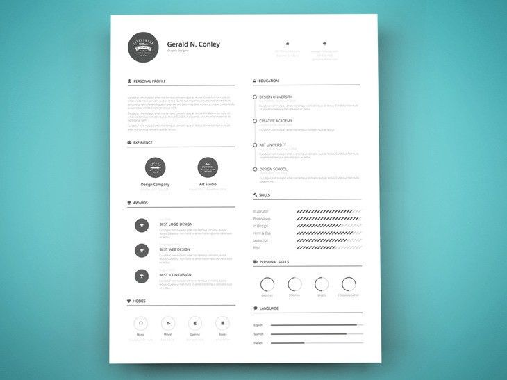 Print Ready Resume Template - graphberry.com