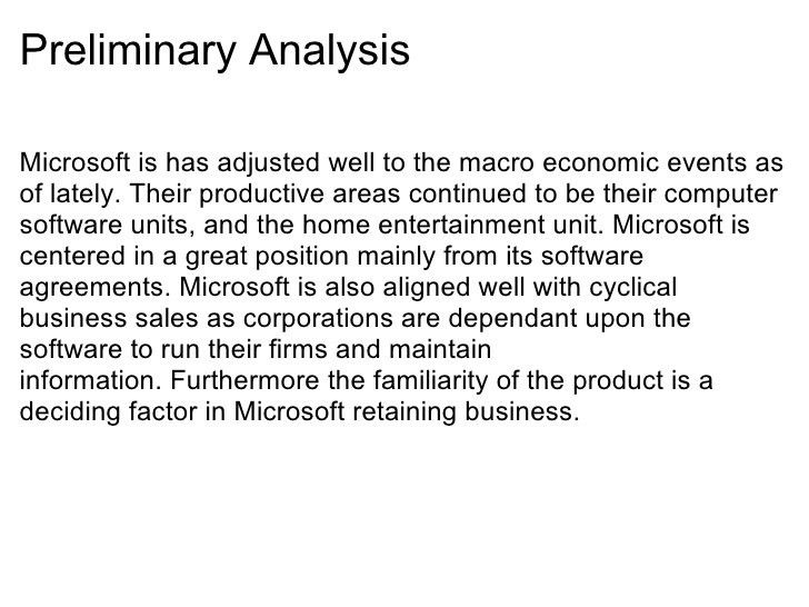 Microsoft Income Statement Analysis