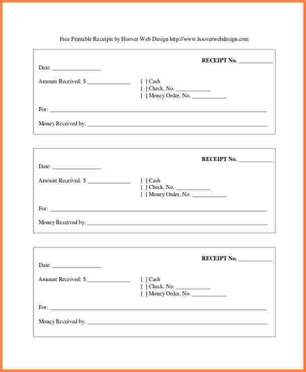 Printable Receipt Form. 7+ Rent Receipt Format Doc | Theatre ...