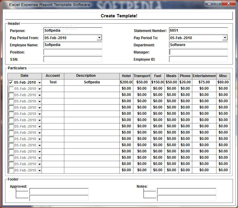 Excel Expenses Template Uk Free Excel Expense Report Template – Simple Expense Report Template
