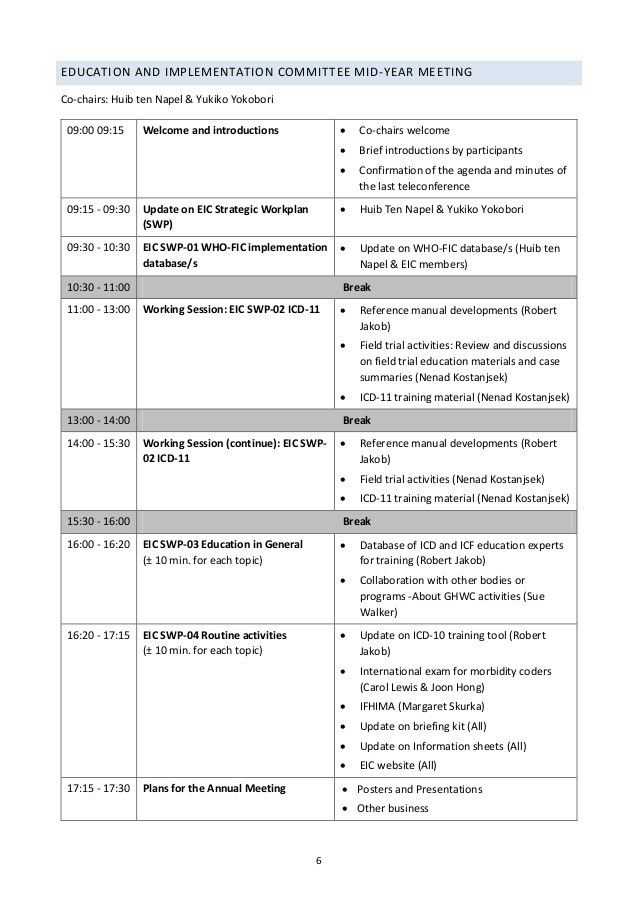 Helsinki draft agendas (13 april 2015)
