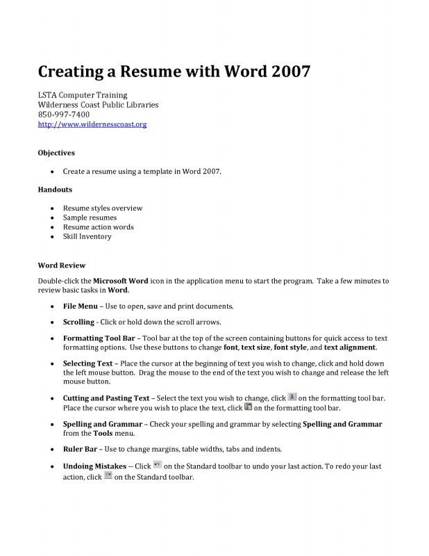 How Can I Create A Resume | Samples Of Resumes
