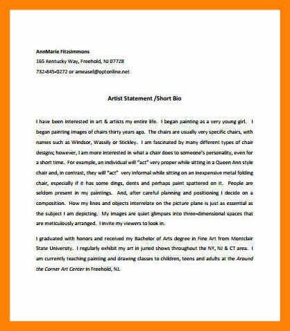 3+ artist statement examples | rn cover letter