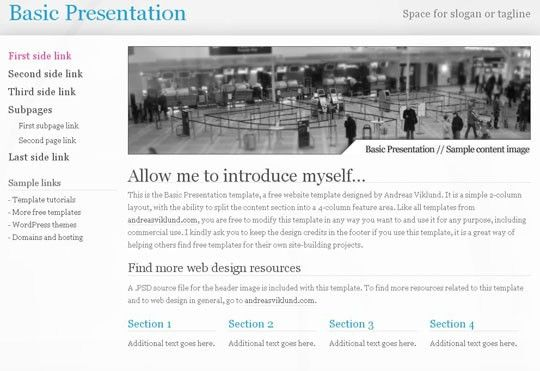 25 Free Minimal and Clean Style XHTML/CSS Website Templates ...