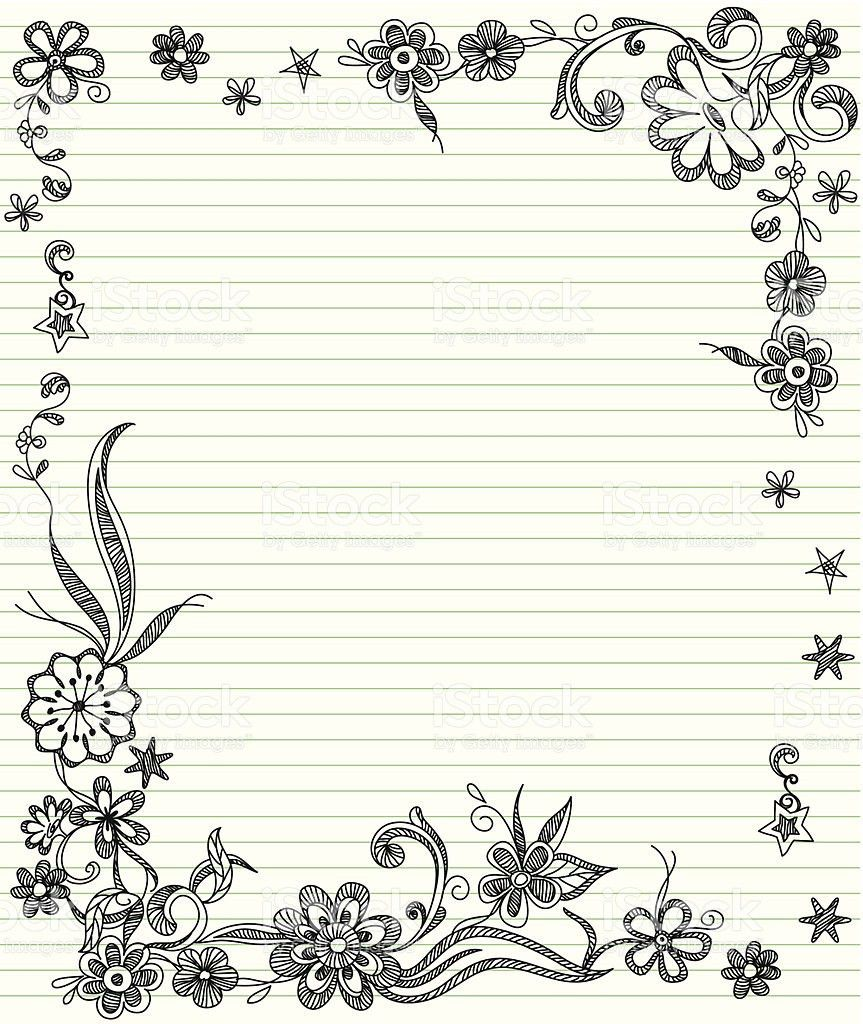 Lined Paper With Borders Clip Art, Vector Images & Illustrations ...