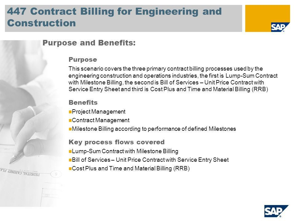 SAP Best Practices for Engineering Construction and Operations V1 ...