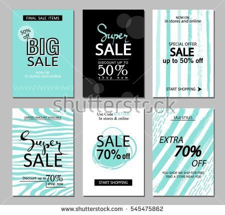 Set Social Media Sale Website Mobile Stock Vector 492159898 ...