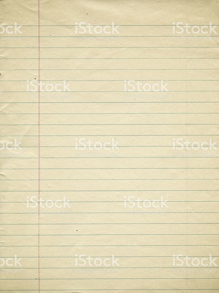 An Old Page Of Lined Paper With Red Margin stock photo 175392959 ...