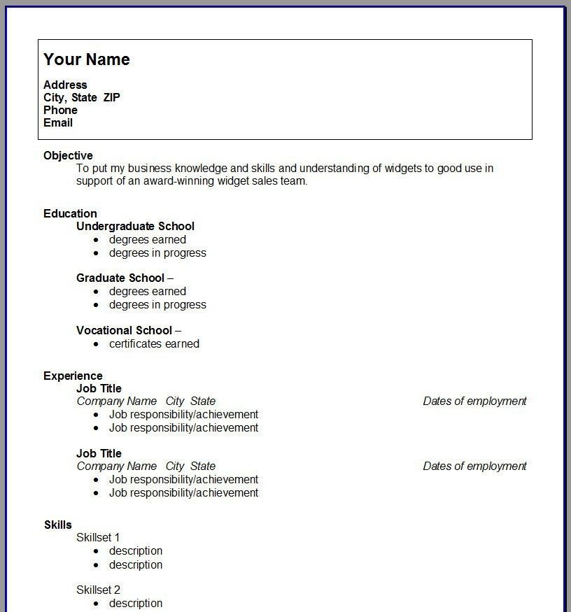 Graduate Resume Template. Example Resume For College Students ...