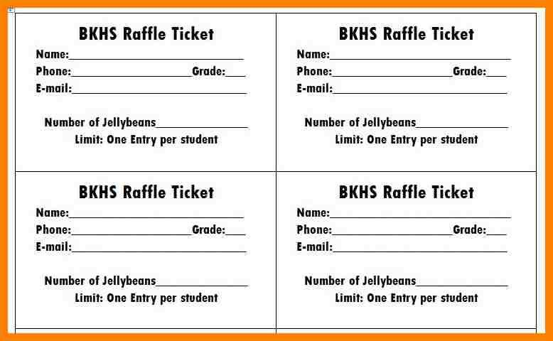 11+ free raffle ticket template for word | cio resumed