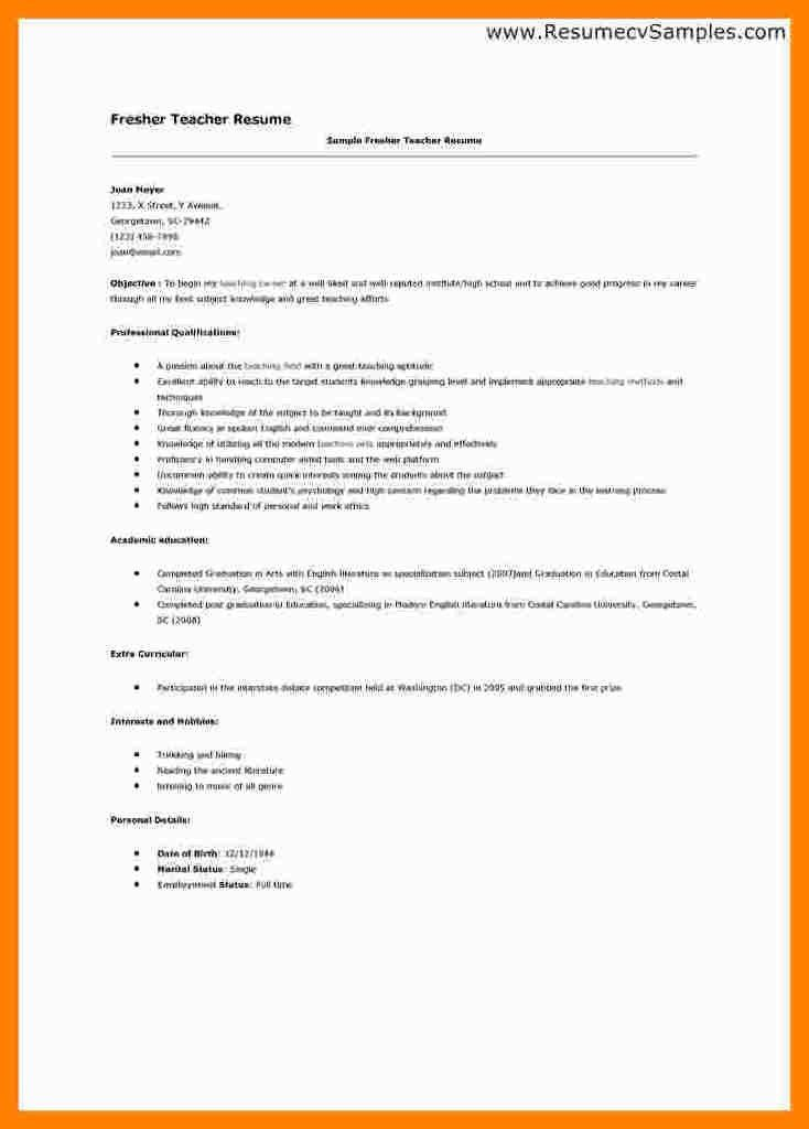 4+ cv format for fresher teachers | packaging clerks