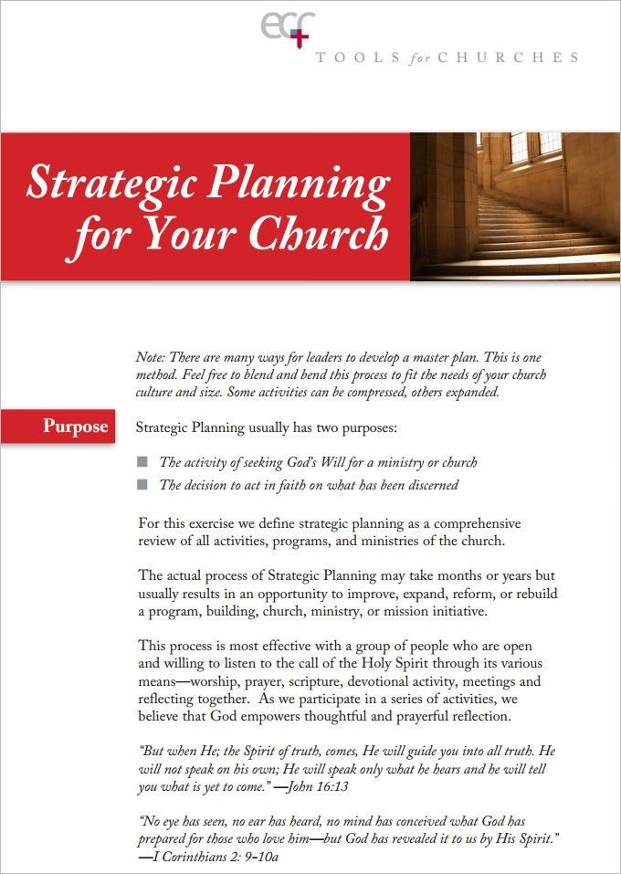 Church Strategic Plan Template - 3 Free Links Download | Free ...