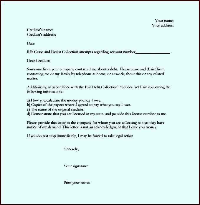 Cease and Desist Letter Instructions and Sample Letter PDF ...