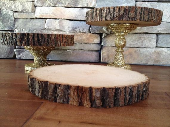 wooden tiered cake stand 2