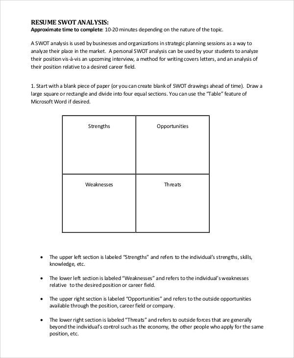 SWOT Analysis Example - 10+ Samples in PDF, Word