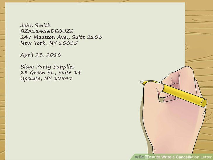 Easy Ways to Write a Cancellation Letter - wikiHow