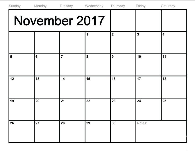 January To December 2017 Monthly Calendar | Free Monthly Calendar