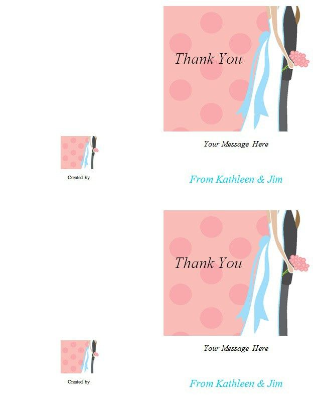 Thank You Note Card Template - Excel PDF Formats