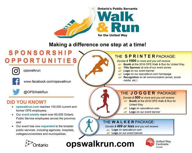 Become a Sponsor | OPS Walk & Run | In Support of the United Way
