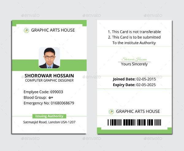 ID Card Template - 9+ Free PSD, Vector EPS, PNG Format Download ...