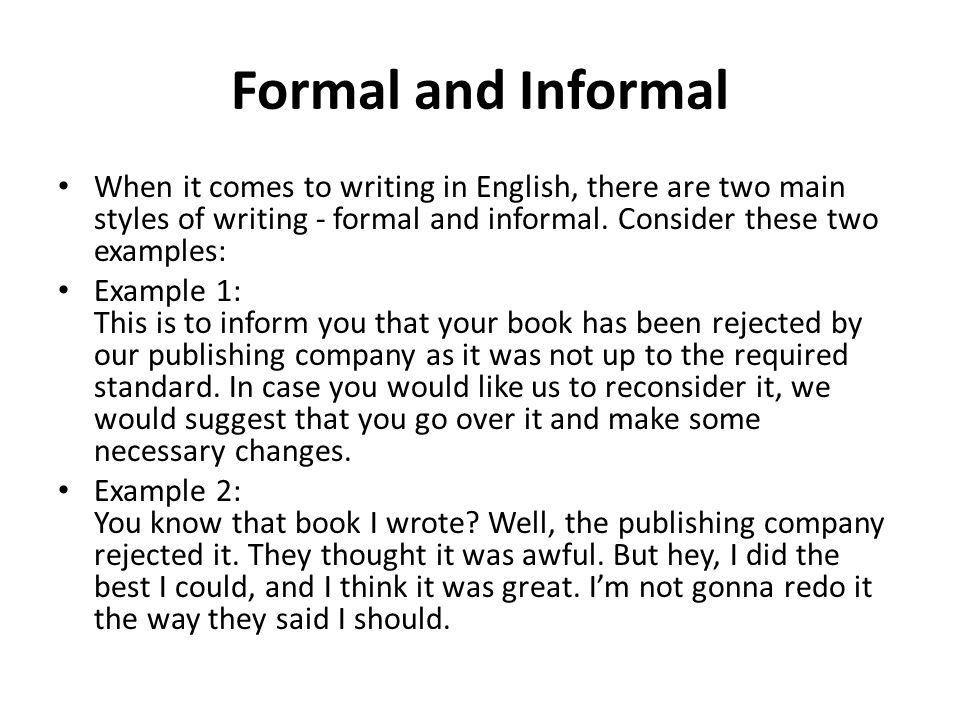 Formal and Informal Lesson ppt video online download