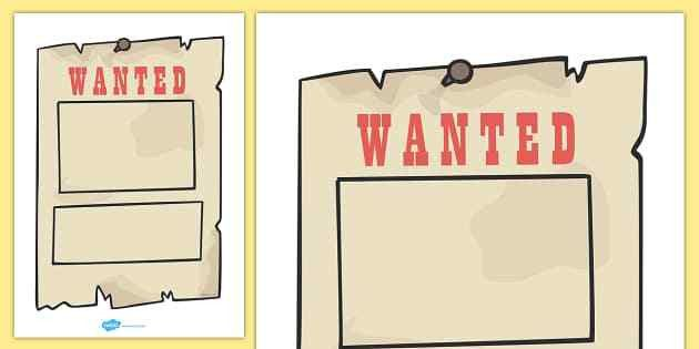 Highwayman Wanted Poster - Cowboy, wanted poster, template