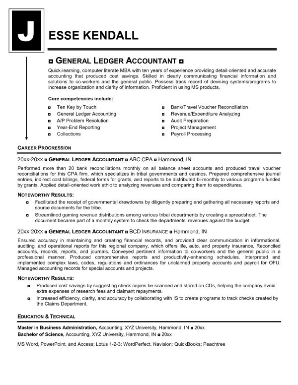 General Ledger Accountant Resume | Mike's Blog