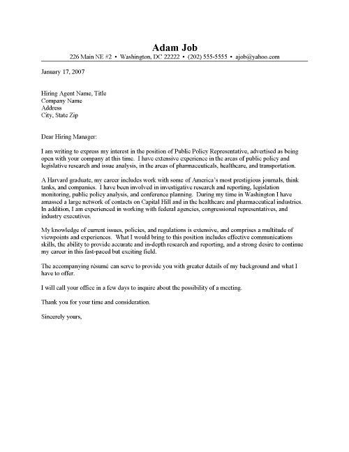 Excellent Cover Letter Example for Resumes in How To Format Cover ...