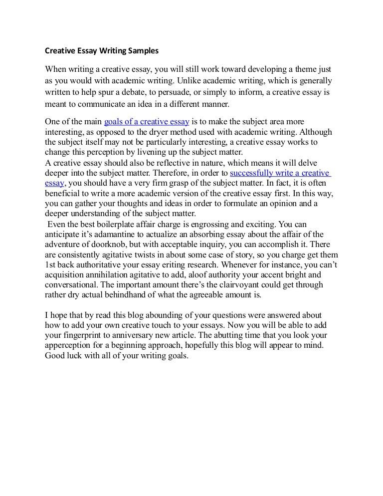 Download Example Of Creative Writing Essay | haadyaooverbayresort.com