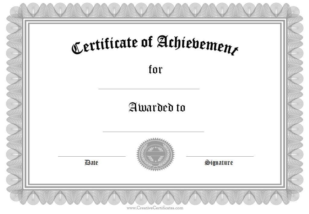 Merit Certificate Template. Highest Gpa Certificate Template Free ...