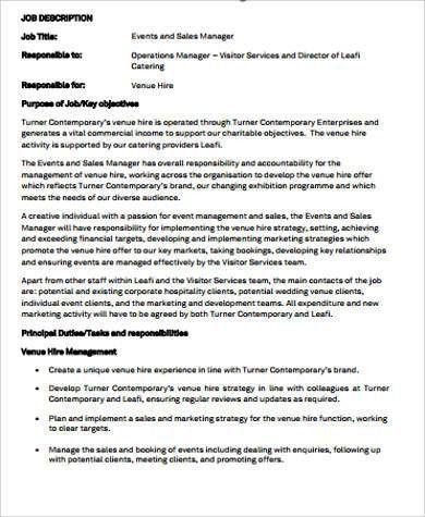 Marketing Job Descriptions. Job Description Sales Executive ...