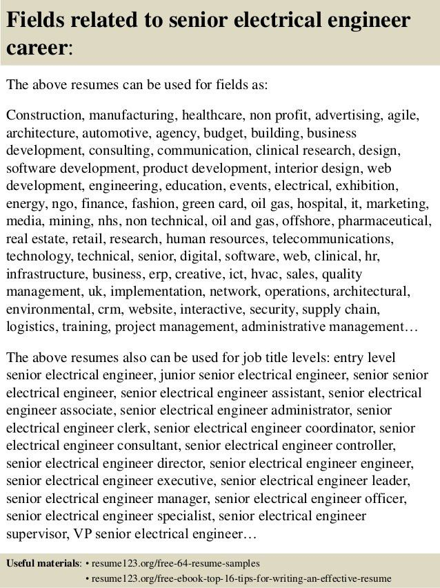 electrical engineer resume example. click here to download this ...