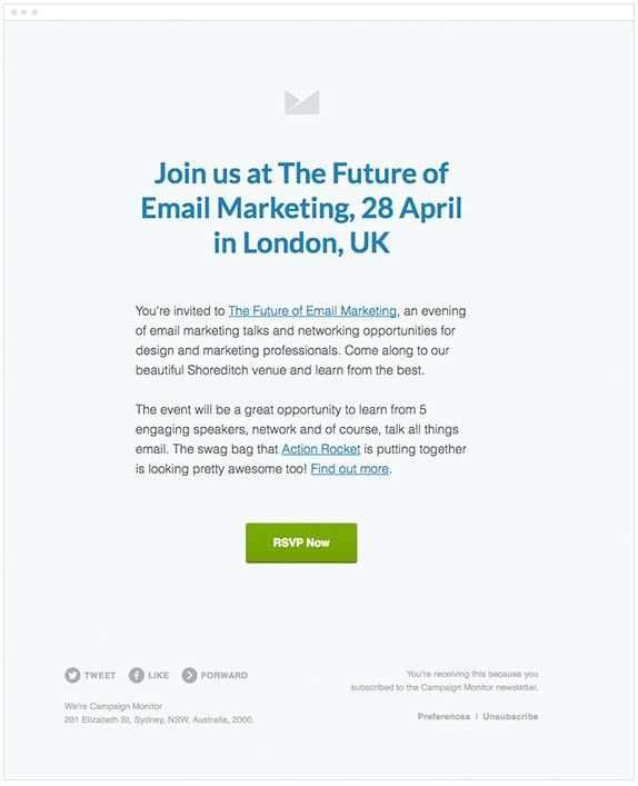 7 Real Examples of Event Invitation Emails | NEWOLDSTAMP